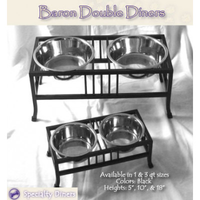 Raised Double Baron Pet Diners