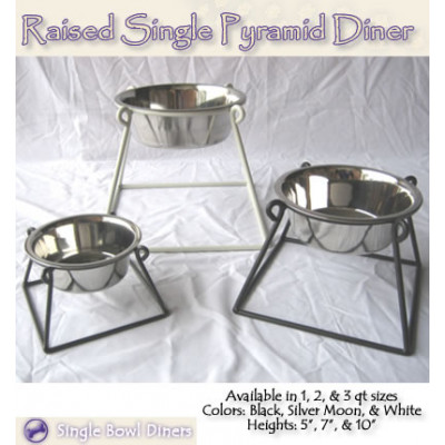Single Pyramid Pet Diners