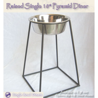 Raised Single Pyramid 18 inch Pet Diner