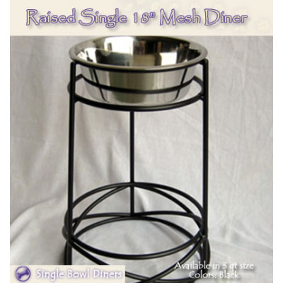 Raised Mesh 18in Pet Diner