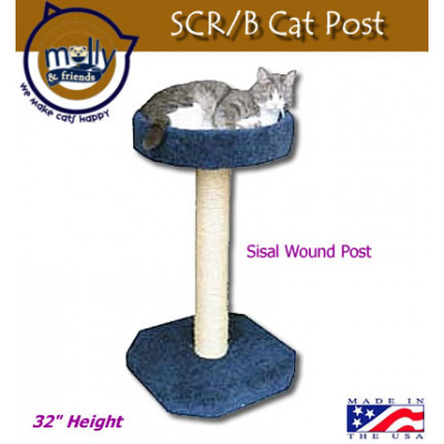 Molly & Friends Cat Scratching Post with Bed