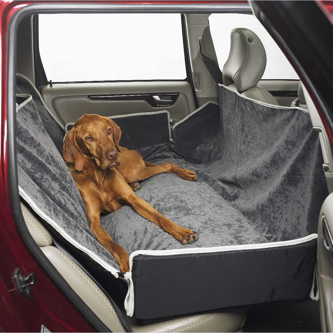 Bowsers Microvelvet Hammock Dog Car Seat Cover