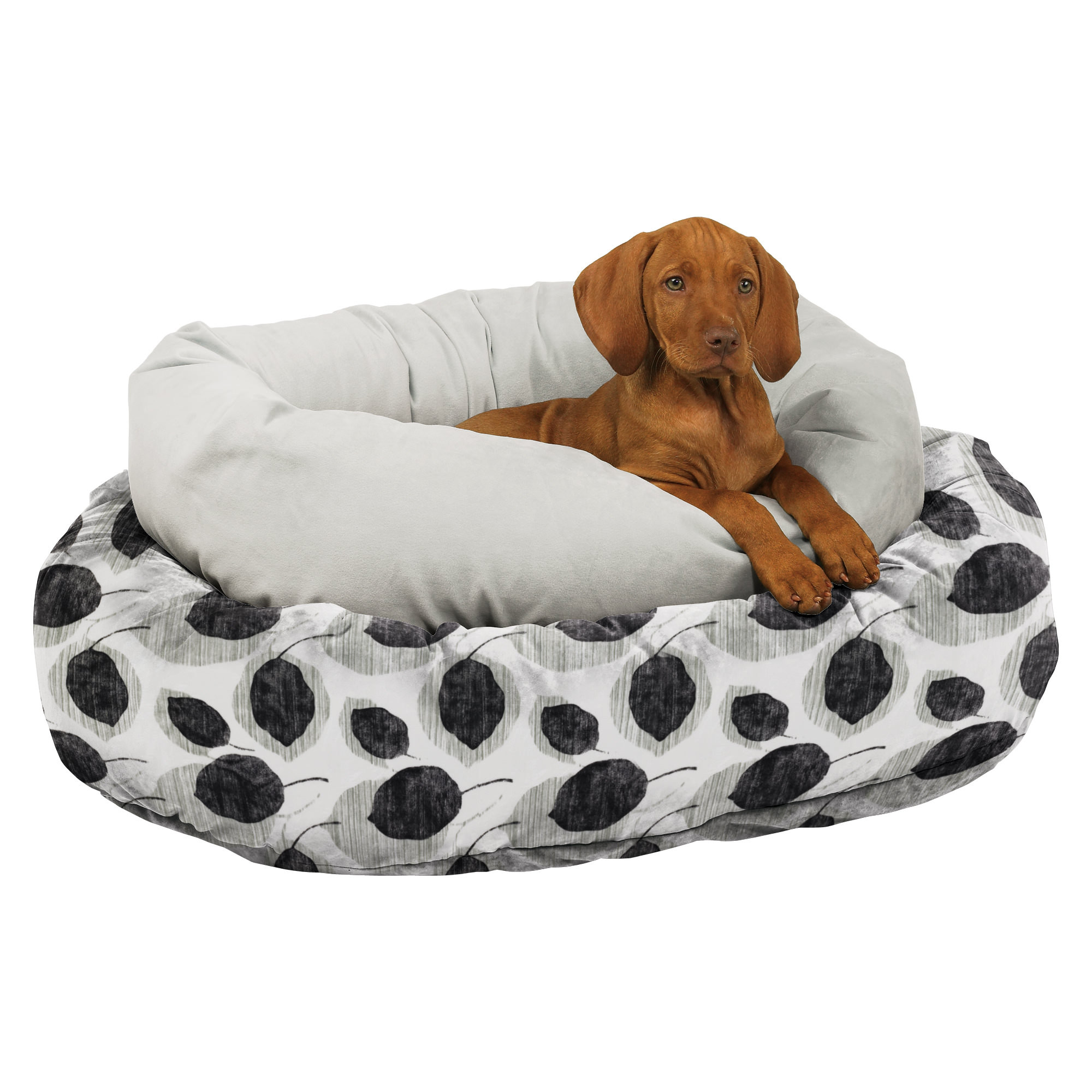bowser dog beds bowsers platinum series microvelvet donut dog bed  - bowsers diamond collection donut pet bed