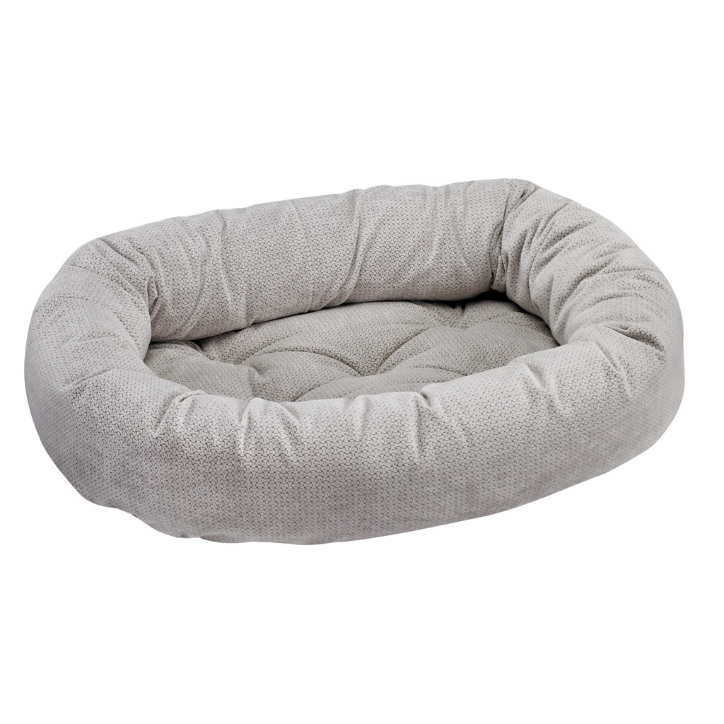 Teddy Oval Red Dog Bed