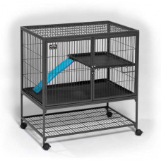 Midwest Ferret Nation Single Unit with Stand Platinum Gray Hammertone 36in x 25in x 38.5in - 181