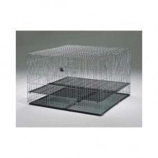 Midwest Puppy Playpen with Plastic Pans and 1/2in Floor Grid 48in x 48in x 30in - 248-05
