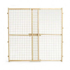Midwest Wood Gate with Wire Mesh 29in - 50in x 44in - 2944WWM