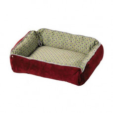 Midwest Quiet Time Boutique Reversible Snap-Bolster Bed Burgundy