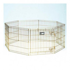 Midwest Gold Zinc Pet Exercise Pen 8 panels 24in x 24in - 540-24