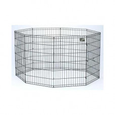 Midwest Black E-Coat Pet Exercise Pen - 24in x 24in - 550-24