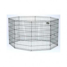 Midwest Black E-Coat Pet Exercise Pen - 42in x 24in - 556-42