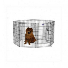 Midwest Black E-Coat Pet Exercise Pen with Walk-Thru Door - 48in x 24in - 558-48DR