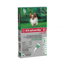 Advantix Flea and Tick Control for Dogs Under 10 lbs 6 Month Supply - ADVX-GREEN-10-6