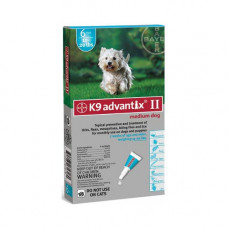 Advantix Flea and Tick Control for Dogs 10-22 lbs 6 Month Supply - ADVX-TEAL-20-6