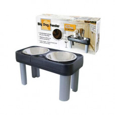 Our Pets Big Dog Feeder Black 16in - B16BG