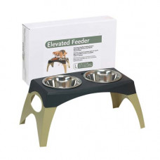 Bergan Elevated Feeder Stormcloud Large
