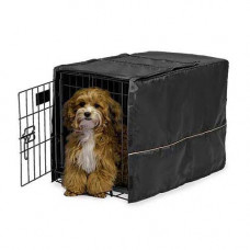 Midwest Quiet Time Crate Cover Black Polyester 23in x 13.5in x 15in - CVR-22