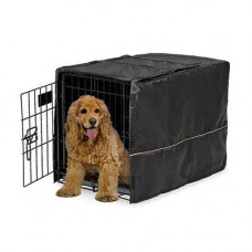 Midwest Quiet Time Crate Cover Black Polyester 30.5in x 20in x 20.5in - CVR-30