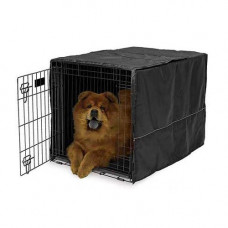 Midwest Quiet Time Crate Cover Black Polyester 36in x 23.5in x 24in - CVR-36