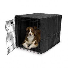 Midwest Quiet Time Crate Cover Black Polyester 43in x 30in x 30in - CVR-42