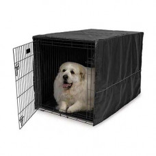Midwest Quiet Time Crate Cover Black Polyester 48.5in x 31in x 31in - CVR-48