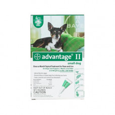 Advantage Flea Control for Dogs and Puppies Under 10 lbs 4 Month Supply - GREEN-10-4