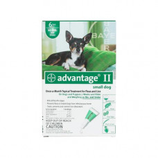 Advantage Flea Control for Dogs and Puppies Under 10 lbs 6 Month Supply - GREEN-10-6