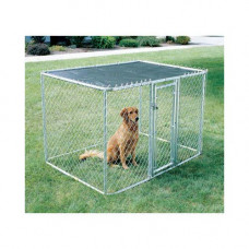 Midwest Chain Link Portable Kennel - 6' x 6' x 4' - K9664