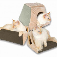 K&H Pet Products Thermo Kitty Cabin Mocha 16in x 16in x 13in - KH3071