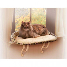 K&H Pet Products Kitty Sill Deluxe with Bolster Tan