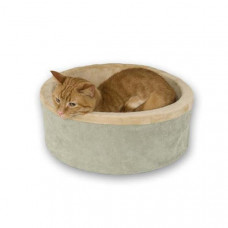 K&H Pet Products Thermo-Kitty Bed Sage 20in x 20in x 6in - KH3194