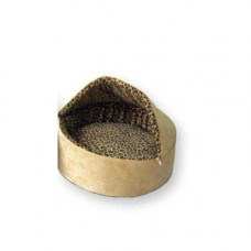 K&H Pet Products Thermo-Kitty Bed Deluxe Hooded Small Tan Leopard 16in x 16in x 14in 4 watts - KH3195