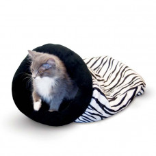 K&H Pet Products Self Warming Kitty Sack Zebra 17in x 17.5in x 4.5in – KH3495