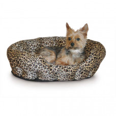 K&H Pet Products Self Warming Nuzzle Nest Brown Leopard