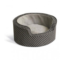 K&H Pet Products Round Comfy Sleeper Self-Warming Gray/Black