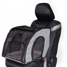 K&H Pet Products Travel Safety Carrier Small Gray 17in x 16in x 15in – KH7660