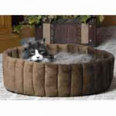Deluxe Leopard Thermo Kitty Bed