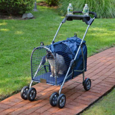 Kittywalk 5th Ave Luxury Pet Stroller Blue - KWPS5AVE