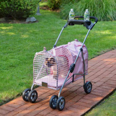 Kittywalk 5th Ave Pet Stroller Pink - KWPSPINK