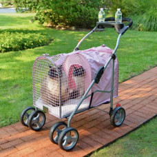 Kittywalk 5th Ave Pet Stroller SUV Pink - KWPSPINKSUV