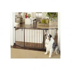 North States Deluxe Décor Wall Mounted Matte Bronze Gate 37in - 71in x  30.7in - NS4934