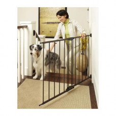 North States Easy Swing and Lock Wall Mounted Matte Bronze Gate 28in - 48in  x 31in - NS4950