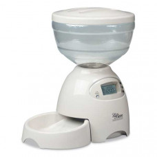 Petmate Le Bistro Electronic Portion Control Automatic Pet Feeder Medium Off White 5 lbs - PTM24232