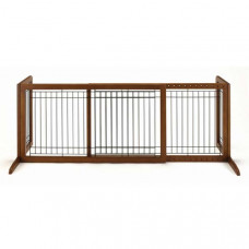 Richell Freestanding Pet Gate Large Autumn Matte 39.8in - 71.3in x 17.7in x 20.1in - R94136
