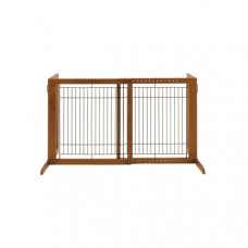 Richell Freestanding Pet Gate HS Autumn Matte 28.3in - 47.2in x 23.6in x 27.6in - R94146