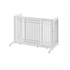 Richell Freestanding Pet Gate Small White 26.4in - 40.2in x 17.7in x 20.1in - R94156