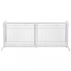 Richell Freestanding Pet Gate HL White 39.4in - 70.9in x 23.6in x 27.6in - R94159