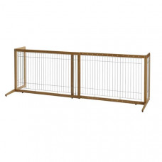 Richell Také Freestanding Pet Gate Coffee Bean 40.4in - 70.5in x 20.1in x 24in - R94180