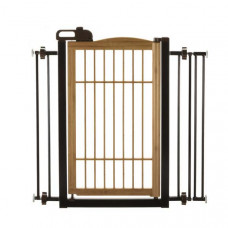 Richell Také One-Touch Pet Gate Bamboo 28.3in - 35.8in x 2in x 34.6in - R94181