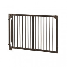 Richell Expandable Walk-Thru Pet Gate Coffee Bean 31.5in - 47.2in x 2in x 32.3in - R94182